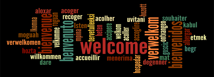 Welcome in Various Languages