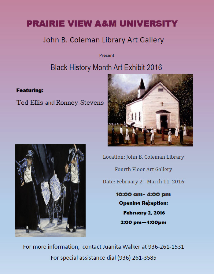 Black History Month Art Exhibit