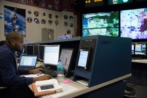 Curtis Gilmore at NASA Desk