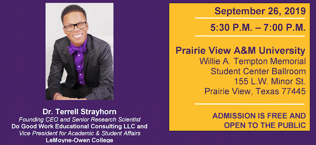Building on Resilience Lecture Series featuring Dr. Terrell Strayhorn