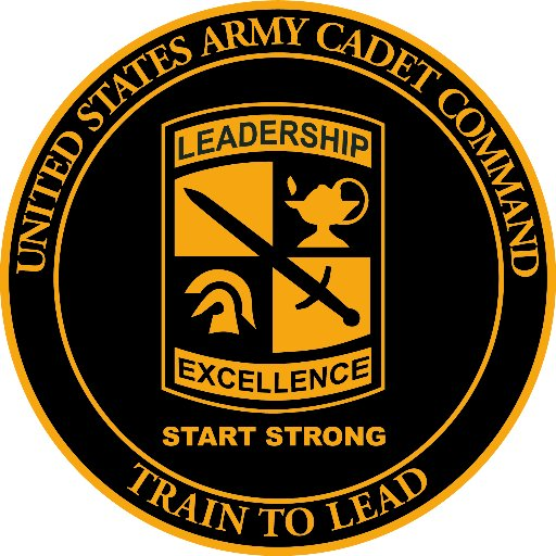 United States Army Cadet Command Train to Lead logo