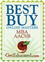 Best buy MBA AACSB    www.geteducated.com