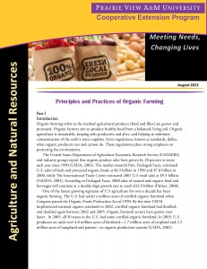Principles and Practices of Organic Farming (Pt-1)