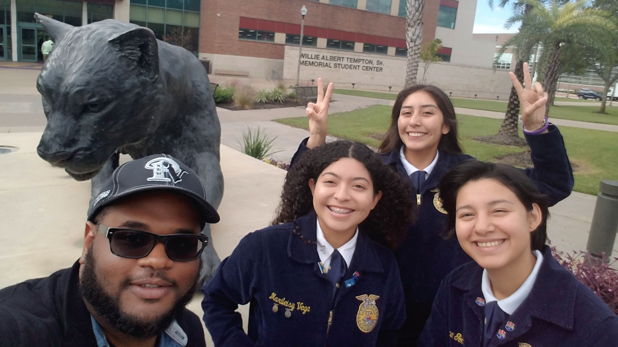 Chad Reese visits PVAMU with FFA participants