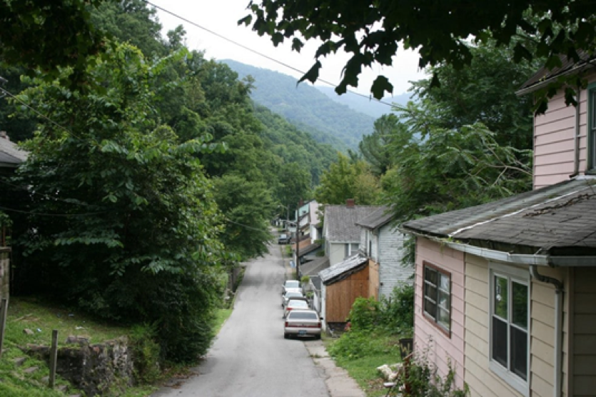 Pictured: Church Street in Lynch, KY., where many African American residents live.