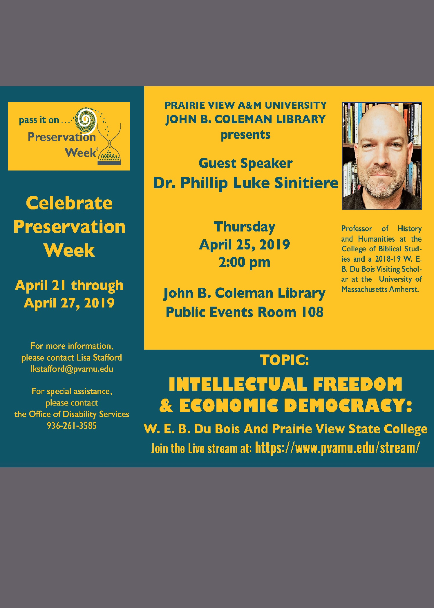 Preservation week lecture 4/25