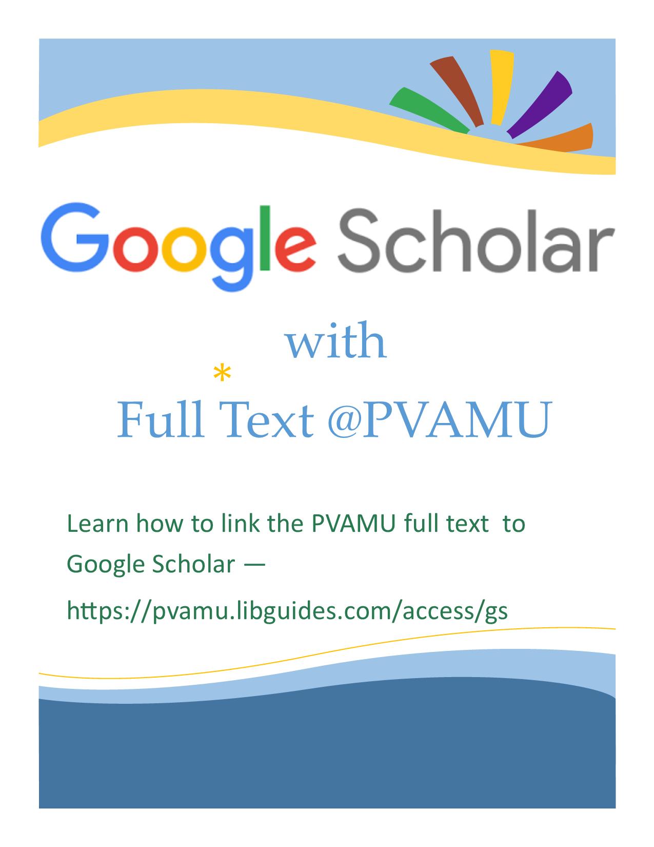 Google Scholar Flyer