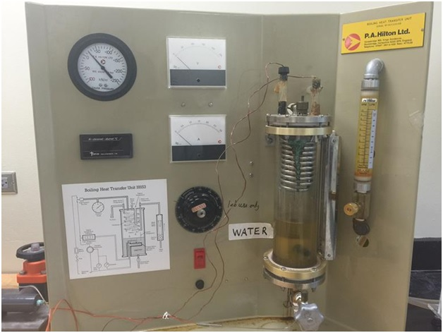 The boiling heat transfer unit for studying pool boiling heat transfer