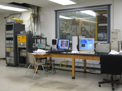 Equipment includes Programmable Logical Controler (PLC), control interphase unit, phase meter, integrator, trigger-delay unit, RF filters, oscilloscopes, computers.