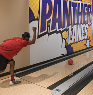 bowling alley for panthers