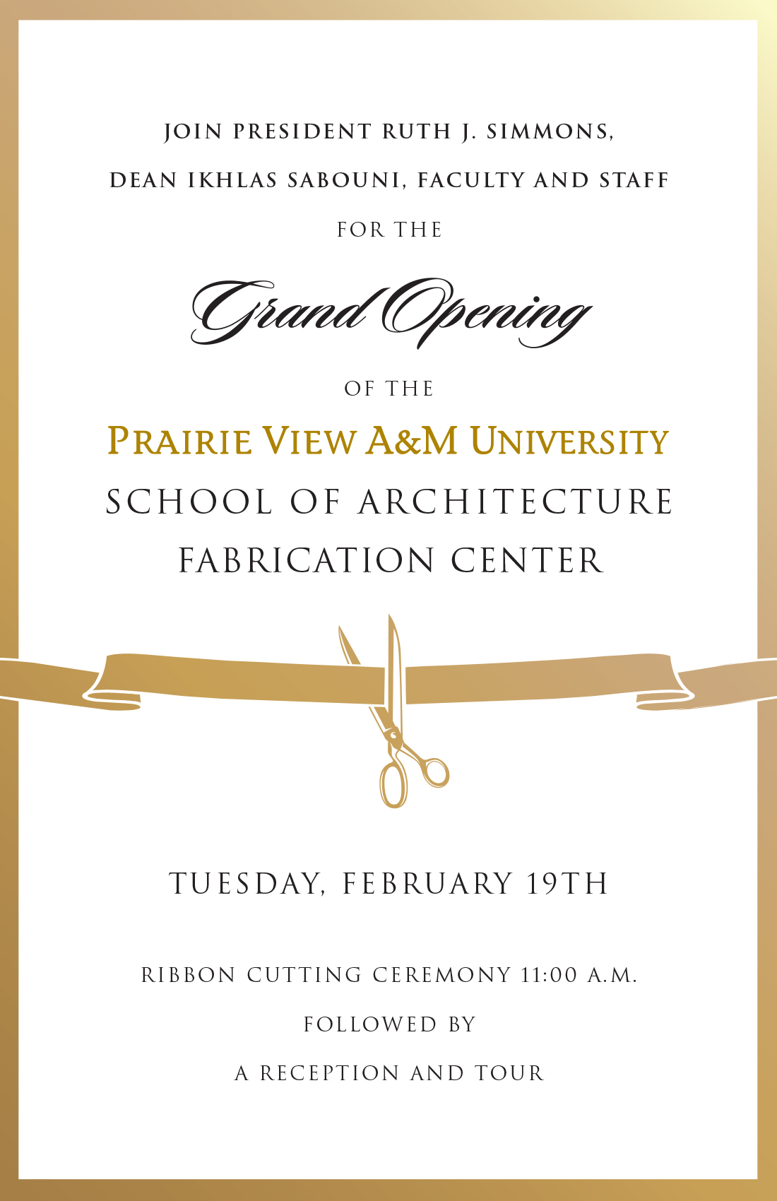 Ribbon Cutting Announcement